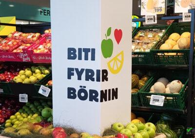 Prentun og límmiðar fyrir Krónuna