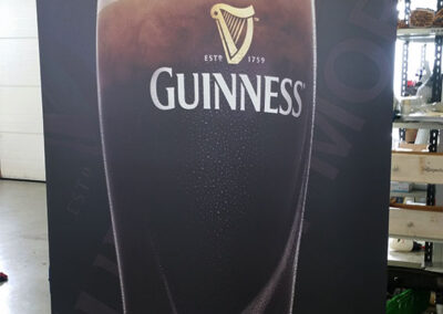 Prentun á Rollup fyrir Guinness