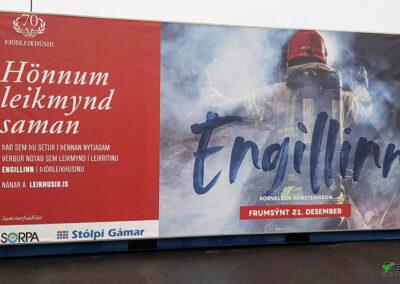 Prentun á segl fyrir Þjóðleikhúsið Hverfisgötu Reykjavík