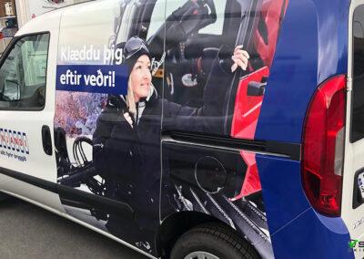 Bílamerking fyrir Dynjanda Skeifunni Reykjavík