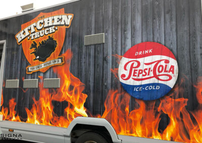 Bílamerking fyrir Kitchen Truck
