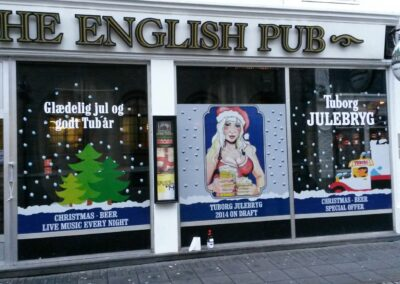 Gluggamerking fyrir The English Pub Austurstræti