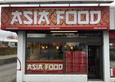 Seglskilti fyrir Asia Food Reykjavík