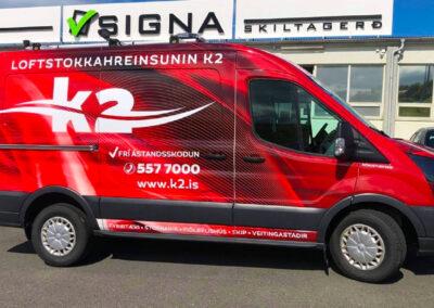 Bílamerking fyrir K2 Reykjavík