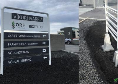 Skiltastandar og álskilti fyrir fyrirtæki