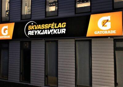 Ljósaskilti fyrir Skvassfélag Reykjavíkur Stórhöfða