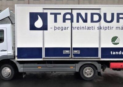 Bílamerking fyrir Tandur Reykjavík