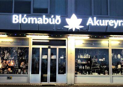 Ljósaskilti fyrir Blómabúð Akureyrar