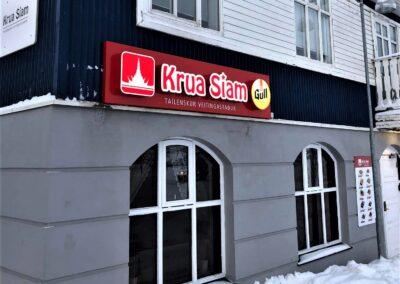 Ljósaskilti fyrir Krua Siam Akureyri