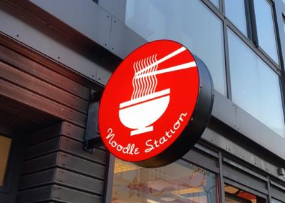 Ljósaskilti fyrir Noodle Station Laugavegi