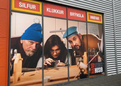 Gluggamerking fyrir Handverkshúsið_Signa