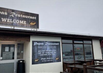 Ljósaskilti fyrir Papas Restaurant Hamraborg_Signa